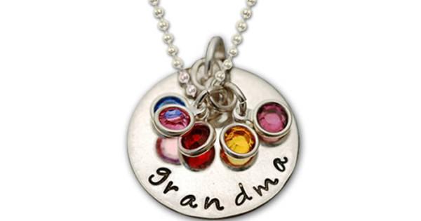grandma necklace sterling silver personalized grandma necklace