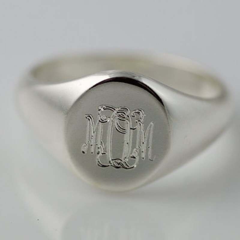 fc30892b40 Monogram Signet Ring Sterling Silver | Personalized Engraved Initial Ring | Monogram  Ring | Monogram Signet Ring | Bridesmaid Gift