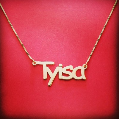 18ct Gold Name Necklace 18ct Name Necklace