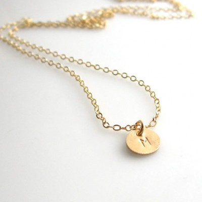100 % 18k Solid Yellow Gold Initial Necklace, Tiny 18kt Gold Initial Necklace, 18k Solid Gold Initial Necklace, Able Heart, Oval and Cross