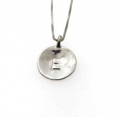 18k white gold necklace. Initial pendant. Letter charm necklace. Personalized necklace. Pendant necklace. Initial necklace. (403B)