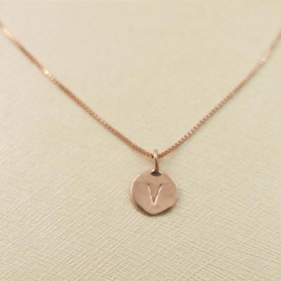 18k rose gold necklace. Initial pendant. Letter charm necklace. Personalized necklace. Gold pendant necklace. initial necklace.Gift ideas