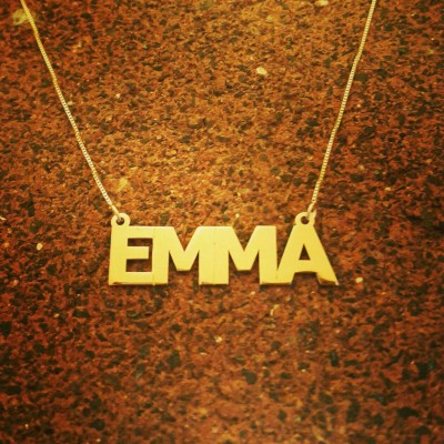 18k Gold Name Necklace / Real Gold / Personalized Name Chain / Solid 18k Gold name Necklace / Classic style name necklace / Pure Gold