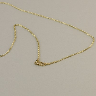 18k Solid Gold Allah Necklace - Personalized Jewelry . Arabic Script, Calligraphy .