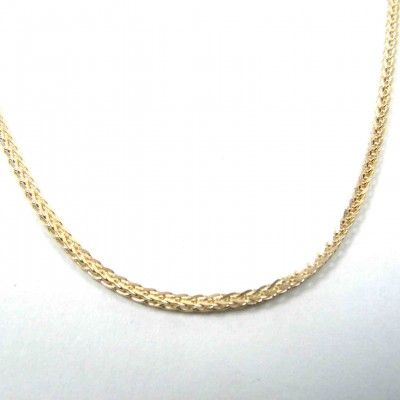 18k gold chain, gold necklace, yellow gold necklace, spiga chain. men gold chain. women gold chain. thick gold chain. white gold chain