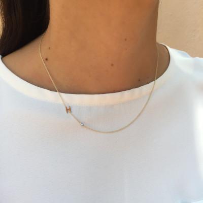 18k gold letter necklace