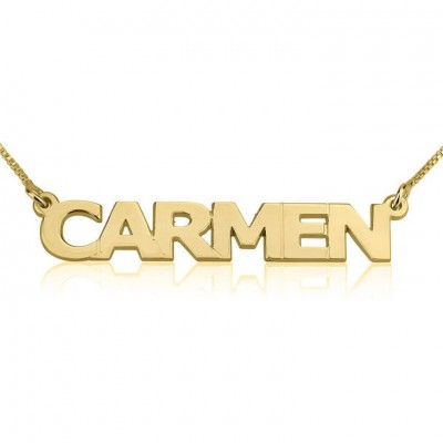 24k Gold Plated Personalized Carmen Necklace