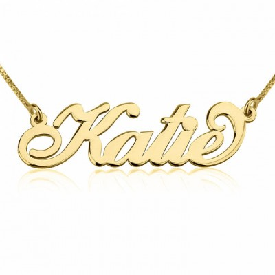 24k Gold Plated Personalized Katie Necklace