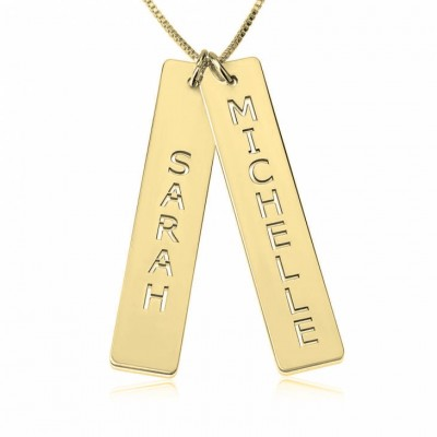 24k Gold Plated Personalized Pair in Love Necklace
