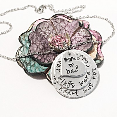 Bereavement Jewelry, Loss of Parents, Loss of Mother Necklace, Loss of Father Necklace, Parent Loss Jewelry, Memorial Jewelry, In Memory of