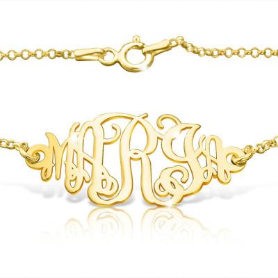 Beyonce Inspired Gold Monogram Bracelet Gold Monogram Ankle Bracelet Name Bracelet Beyonce Gold Bracelet Happy Birthday Gifts For Birthdays