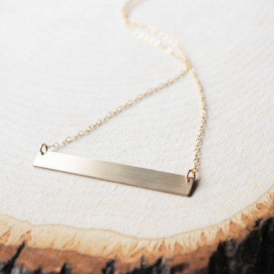 Brushed Bar Necklace
