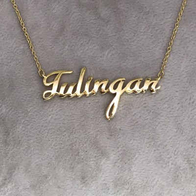 Christmas Gift Name Necklace For Her, Necklace, Custom Name Necklace, Personalized Name Necklace, Bridesmaid Necklace, Name Necklace For Her