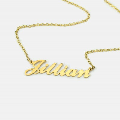 Christmas gift, Carrie nameplate necklace, Custom Name Necklace, Personalized silver name plate Necklace gold Personalized gift from son