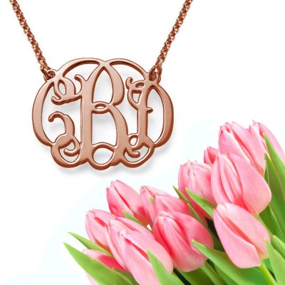 Classic Monogram Necklace (rose gold)