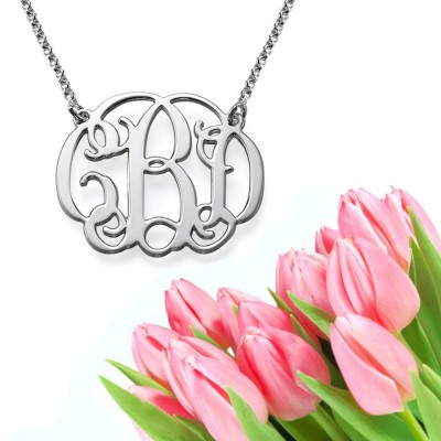 Classic Monogram Necklace (silver)