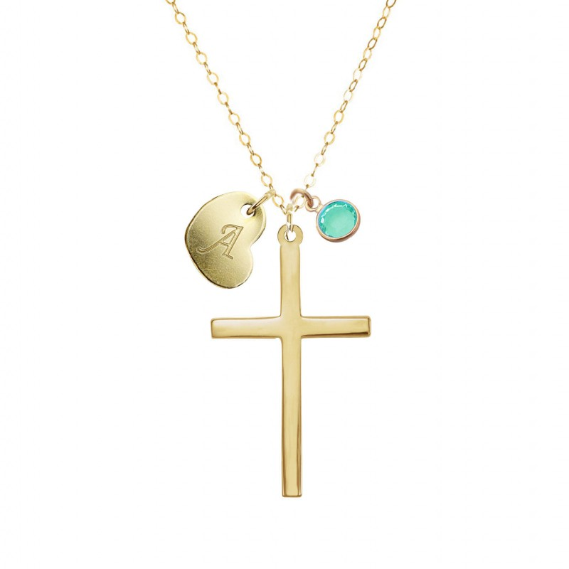 confirmation gifts for girls personalized cross necklace gold