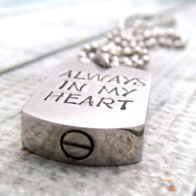 Cremation Jewelry - Personalized Necklace - Hand Stamped Necklace -  Cremation Urn Necklace - Remembrance Necklace - Personalized Jewelry