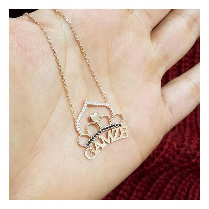 Crown Name Necklace Gift For Women Gift For Girlfriend Personalized Gift Mom Necklace Baby Name Mothers Day Gift For Mom 925ksilver 00047