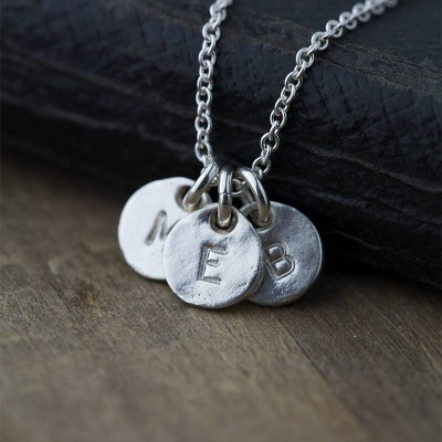 Custom Hand Stamped Necklace, Initial Necklace for Mom, Personalized Mom Jewelry, Gift for Women, Personalized Womens Jewelry