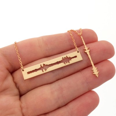 Custom Matching Couple Sound Necklaces, Couple Necklace Set, Waveform Necklace, Soundwave Jewelry, I Do Necklace, Mothers Day Gift