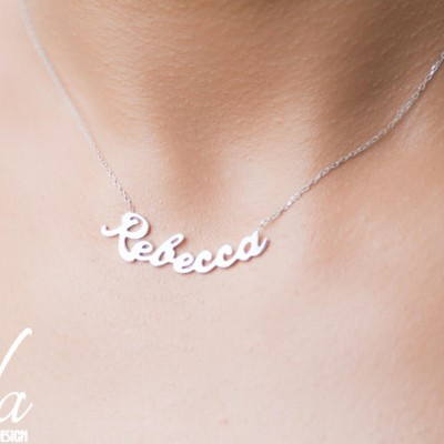 Custom Name Necklace Women - Personalized Sterling Silver Name Necklace -Necklaces For Women - Gift For Her - Bridesmaid Gift,Name Jewelry