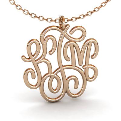 Custom Rose Gold Monogram Necklace, Circle Monogram Necklace, Silver Monogram Necklace, Tiny, Monogram Necklace, Bridal Monogram Necklace
