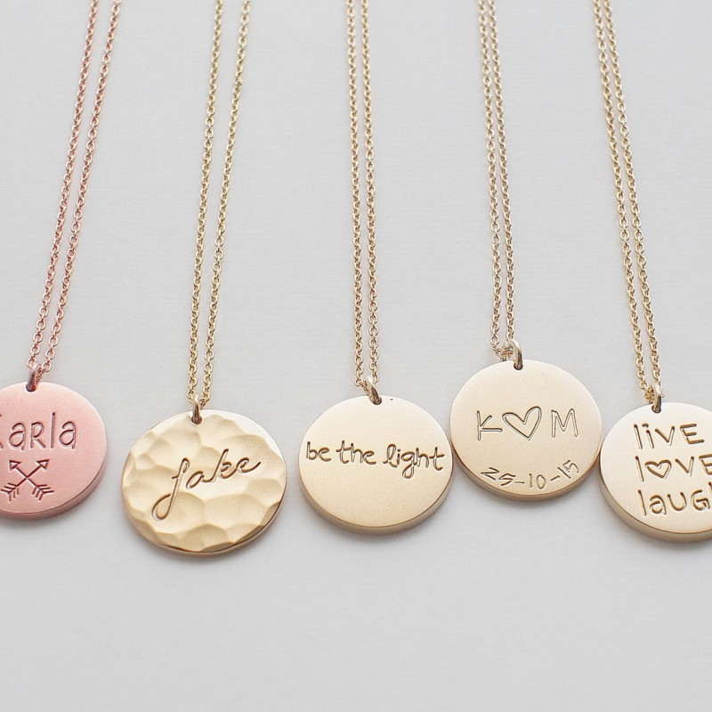 Personal Engraved Name Custom Family Jewelry Personalized Family Necklace Kids Names