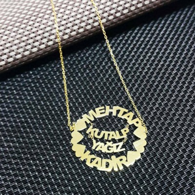 FAMILYNAMES NECKLACE 925K SILVER 00153