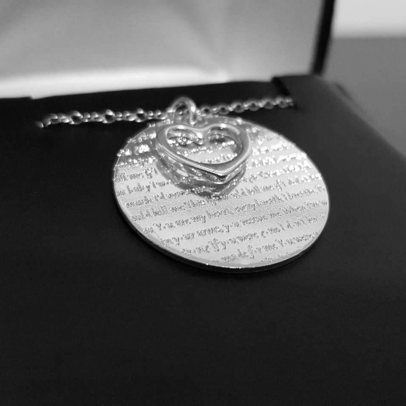 First Dance Lyrics Necklace Song Necklace Wedding Song Engraved
