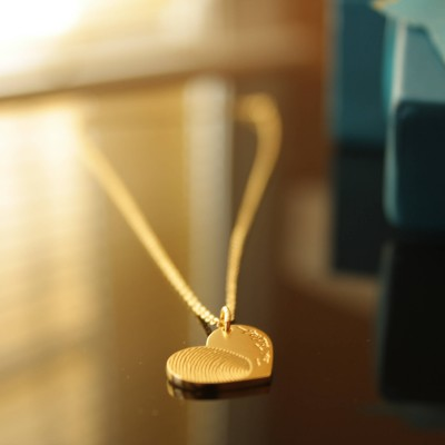 Gift For Her - Personalized Heart Necklace