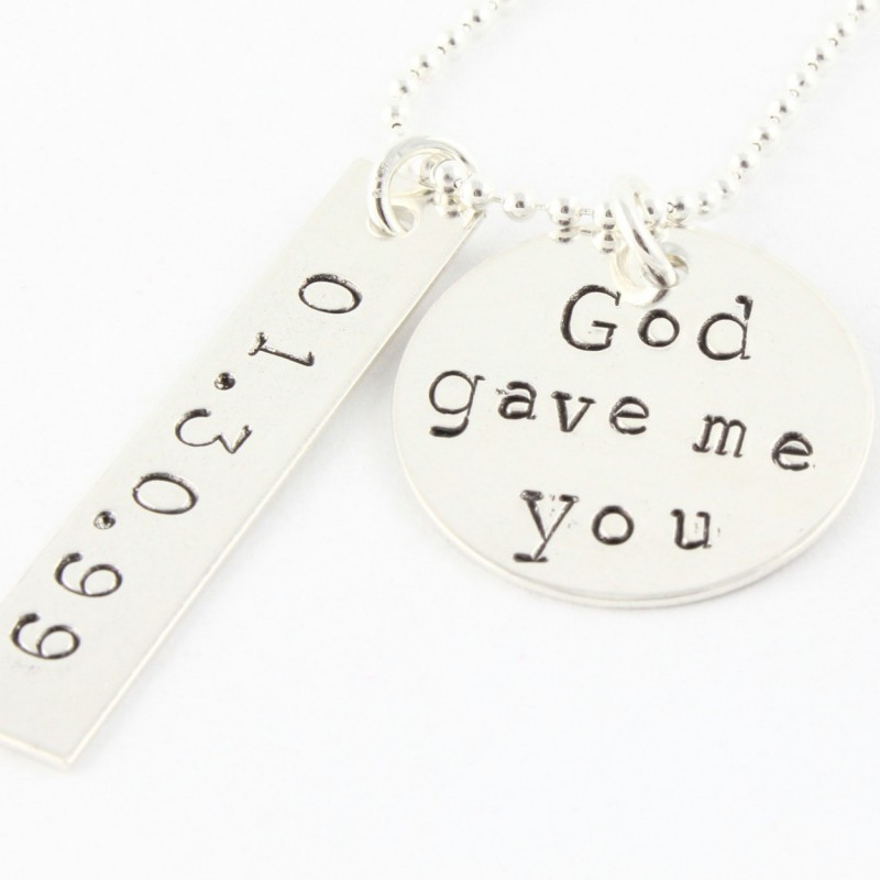 042b52c15b6b6 God Gave Me You Necklace - Mother's Day Gift For Mom - Personalized ...