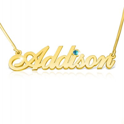 Gold Name Chain Real Gold Name Necklace With Name and Addison Necklace Special Gift For Birthday Gold Chain With Name Namme ketting