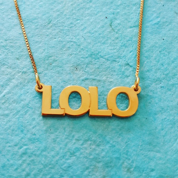 Gold Name Necklace / Gold Plated / Gold plated 18k ORDER ANY NAME / nameplate chain / neckless with name / all capital name necklace