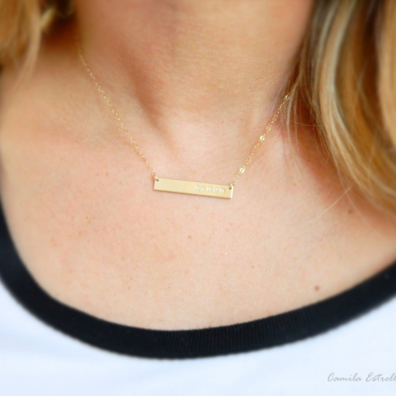 07de725fcb7bac Gold Name Necklace, Custom Necklaces, 18k Gold Chain, Bar Necklace, Nameplate  Necklace, Engraved Necklace, Personalized Necklace