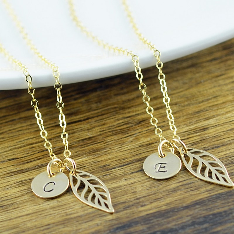 Bridesmaid gold necklace gift