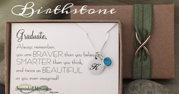 Sterling Silver Heart November Birthstone Class of 2017 Graduation Pendant Necklace