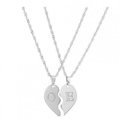 Half Heart Necklace - Split Heart Necklace - Best Friend Necklace - BFF Necklace - Mother Daughter Necklaces - Friendship Necklace