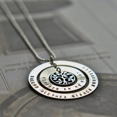 Hand Stamped Mother Necklace - Personalized Jewelry - Family Tree Necklace - Sterling Silver - Nan Grandma Gift - Hand Stamped Australia