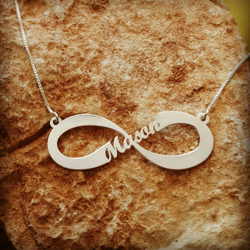19c04b18b38ec Infinity Name Necklace / Forever Symbol ANY name necklace ...