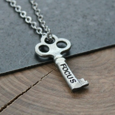 Key Word Necklace, Personalized Word Necklace, Inspirational key, Graduation Gift, Custom Word Necklace, Personalized Jewelry, Name Necklace