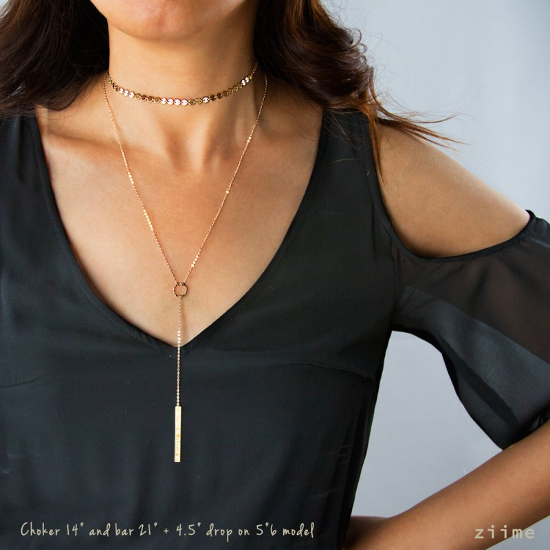 Delicate Layering NecklacesCopper and Brass Choker LariatCopper and Brass Layering NecklaceCopper Lariat Necklace