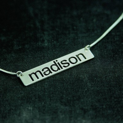 Madison Style Name Necklace Silver / Any Name / Christmas Gift / Christmas / Name Plate / Jewelry / Necklaces / Name / Name Jewelry /