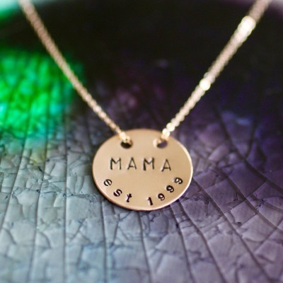Mama Necklace - Rose Gold - Mom Necklace - Mom Necklace - New Mom Gift - Mommy Necklace - Gifts For Mom - Mothers Day - Mama Jewelry