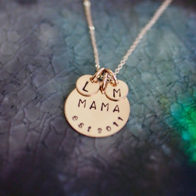 Mama Necklace - Rose Gold - Mom Necklace - Mom Necklace - New Mom Gift - Mommy Necklace - Gifts For Mom - Initial Jewelry - Mama Jewelry
