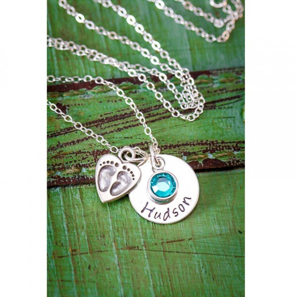 Mom Necklace Christmas Gift O Birthday Mommy Mother New Baby Wife Loss Shower First