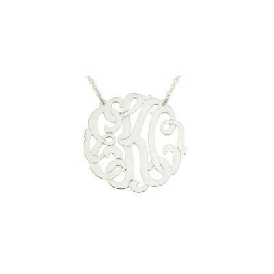 "Mono137 - 2"" Sterling Silver XL Monogram Necklace"