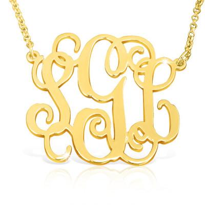 Monogram Necklace Gold Monogrammed Necklace Teen Gold Monogram Pendant Monogram Jewelry Monogram Necklaces 16 Birthday Gift 18 Birthday Gift