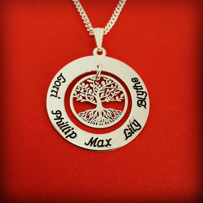 Mother Necklace Family Necklace 3 name necklace 2 name necklace 4 name necklace birthday gift for wife birthday gift necklace mom birthday