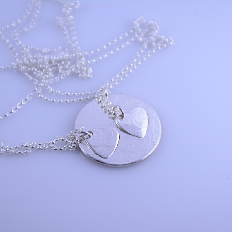 Daughter Gift Necklace To Daughter from Mom \u2022 Gift for Daughter Necklace \u2022 Family Necklace \u2022\u00a09mm Disc \u2022 14k Gold Filled and Sterling Silver